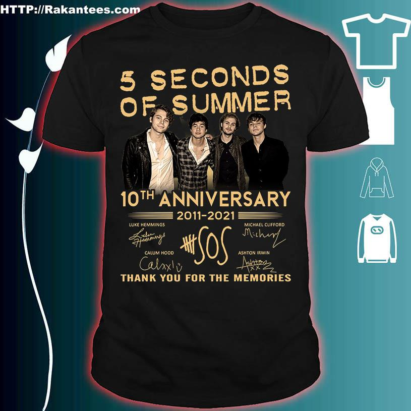 5 Seconds of Summer 10TH Anniversary 2011 2021 signatures shirt