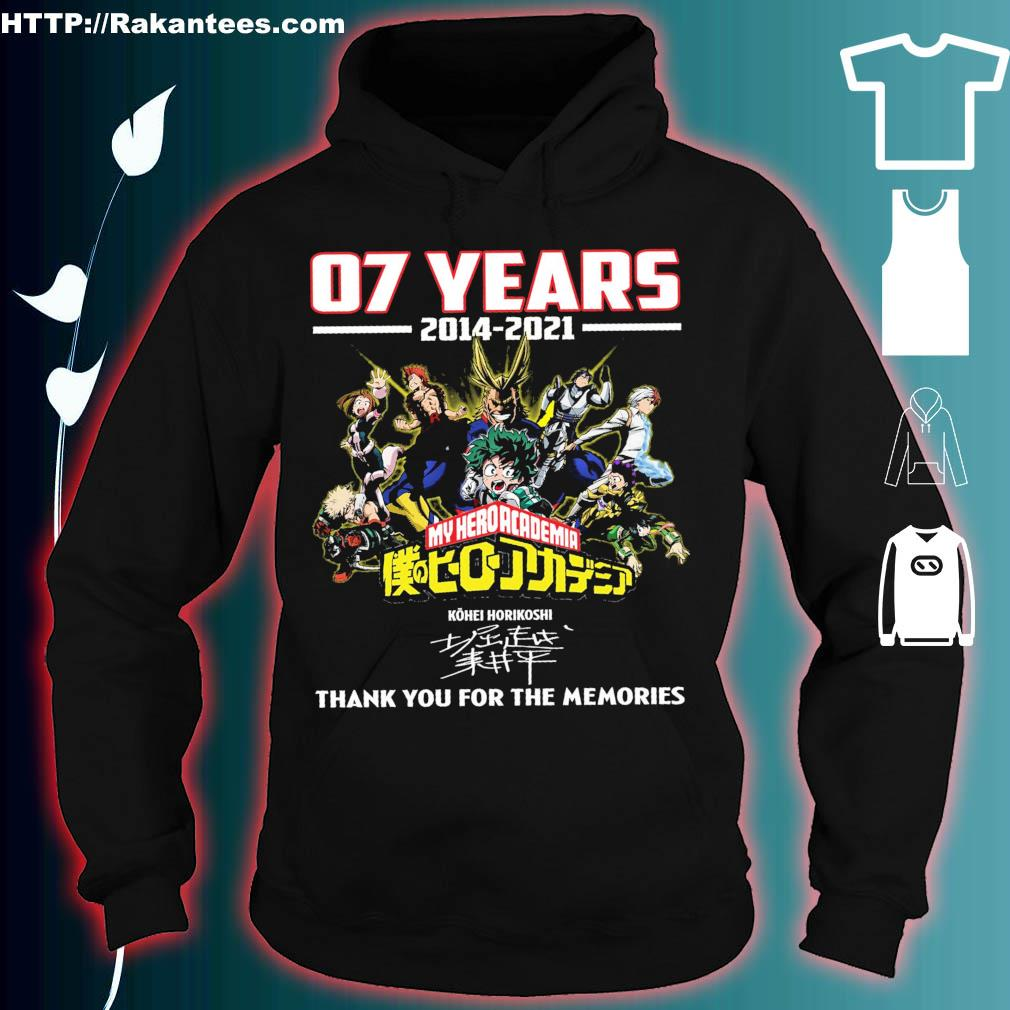 07 years 2014 2021 My hero academia thank You for the memories hoodie