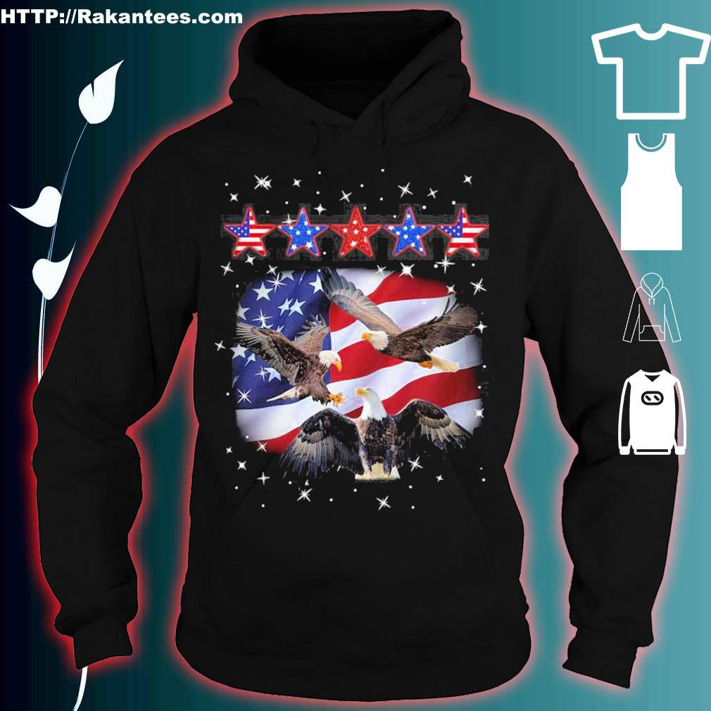 Official Eagle Five Star America 4th Of July Shirt hoodie