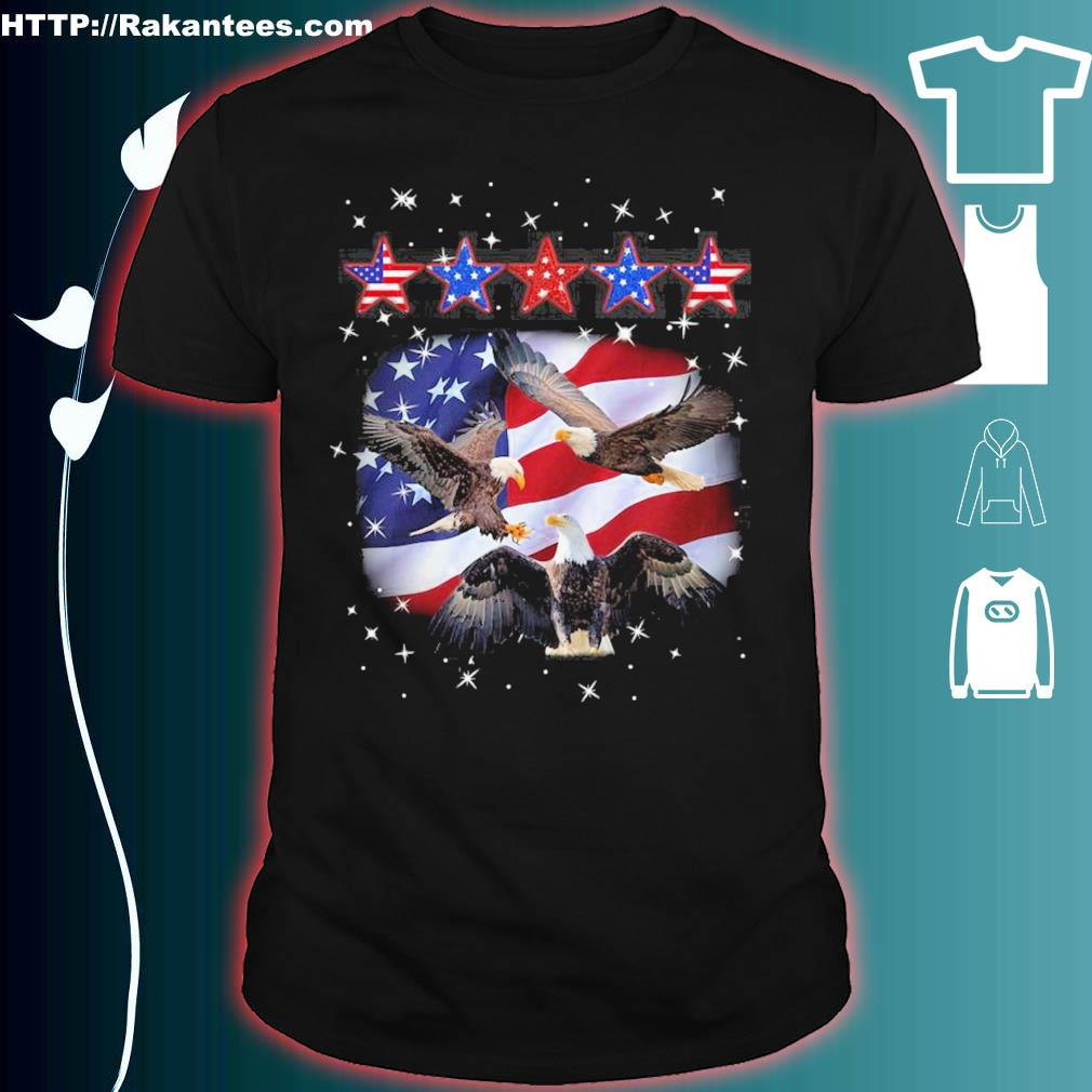 Official Eagle Five Star America 4th Of July Shirt