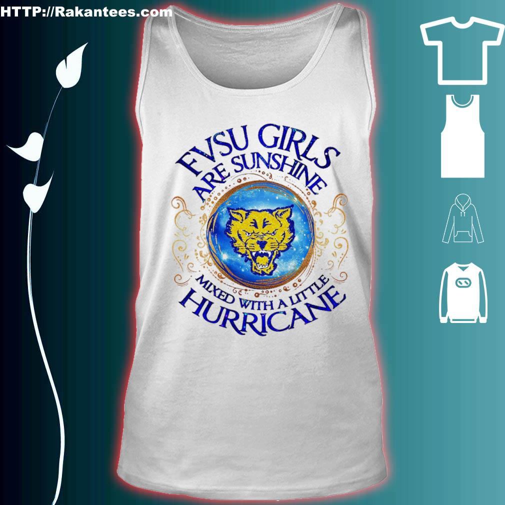 Fvsu Girls Are Sunshine Mixed With A Little Hurricane Shirt tank top