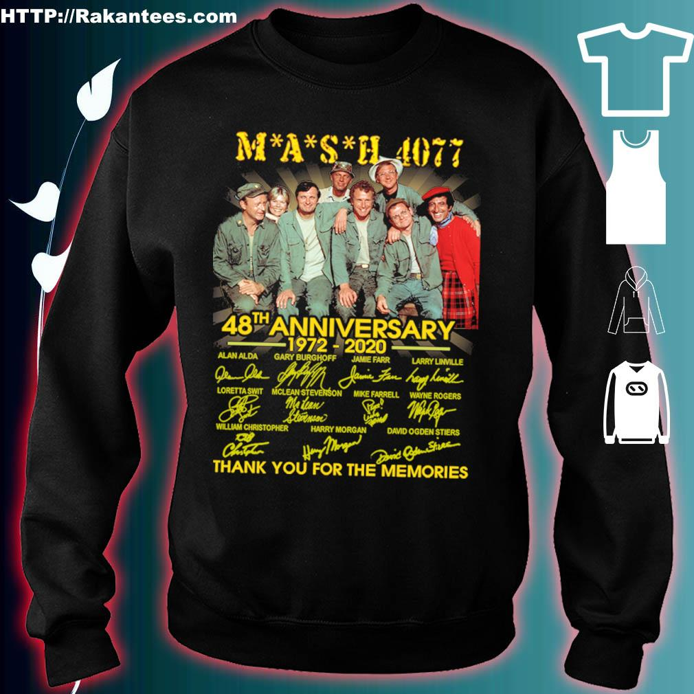 Mash 4077 48th Anniversary 1972 2020 Thank You For The Memories Signatures Shirt sweater