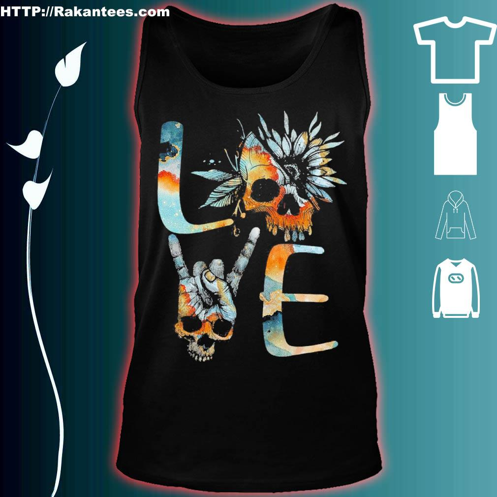 Official Love Skull Floral Shirt tank top