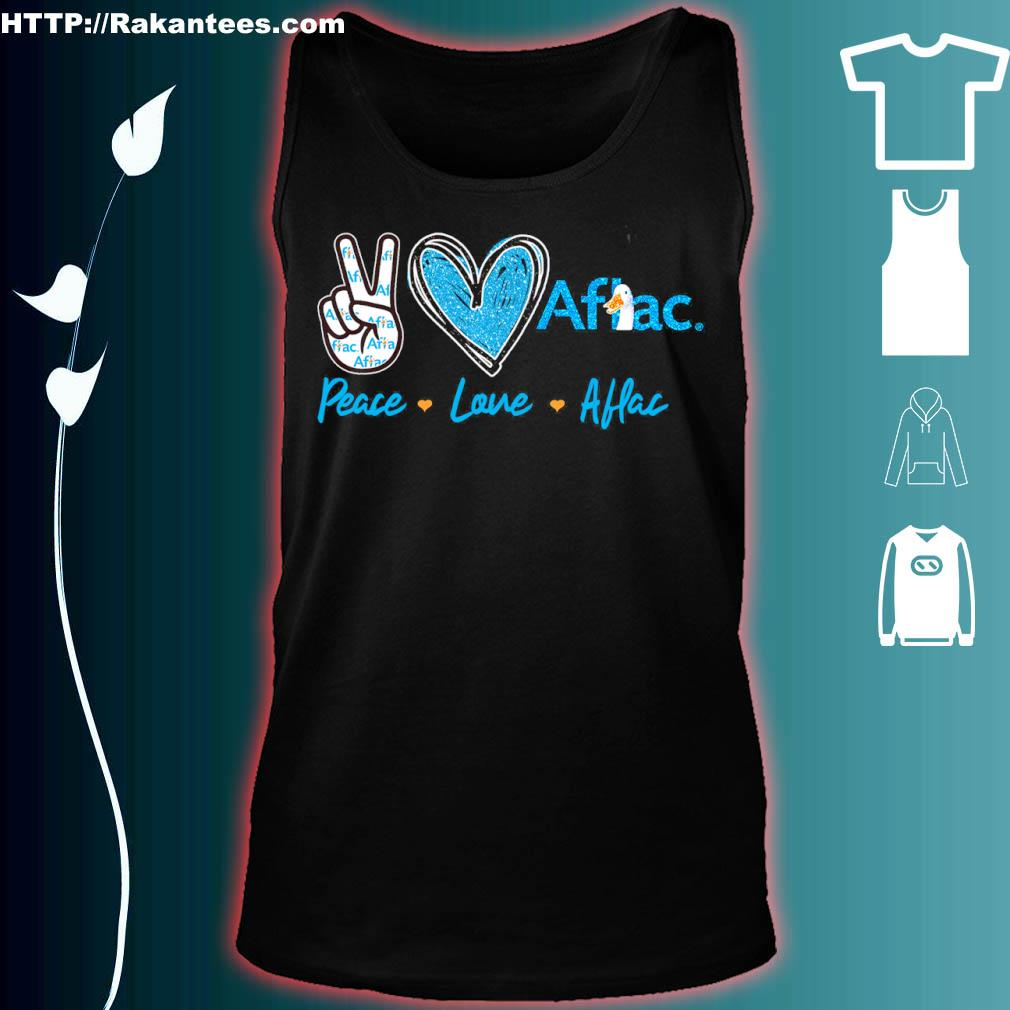 Peace Love Aflac Diamond Shirt tank top