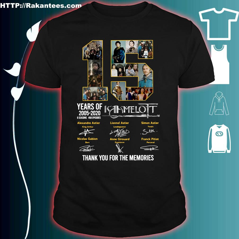 15 years of 2005 2020 Kaamelott thank You for the memories signature shirt