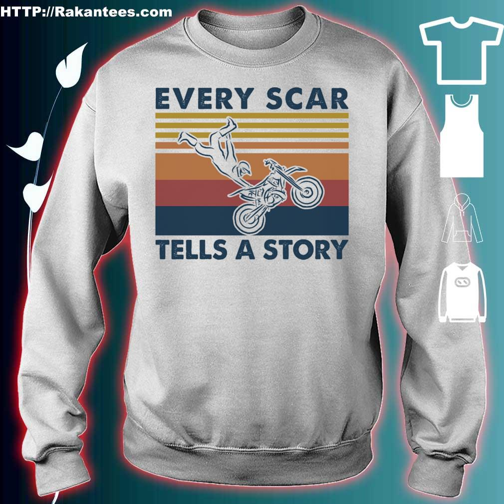 Every scar tells a story vintage s sweater
