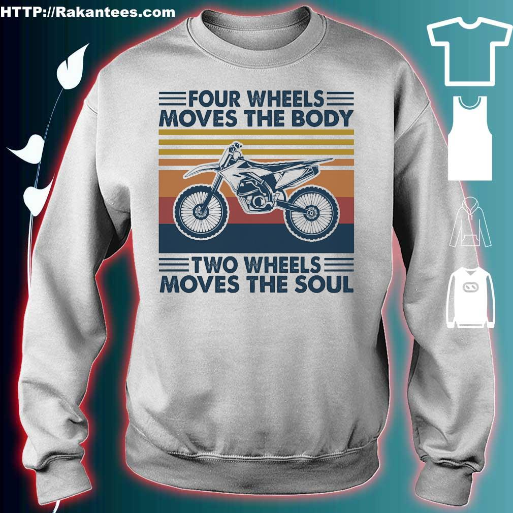 Four wheels moves the body two wheels moves the soul vintage s sweater
