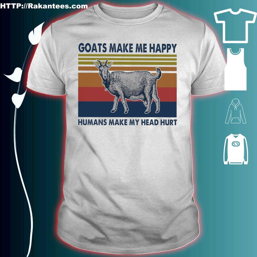 Goats Make Me Happy You Not So Much Mens Short-Sleeve Polo Shirts