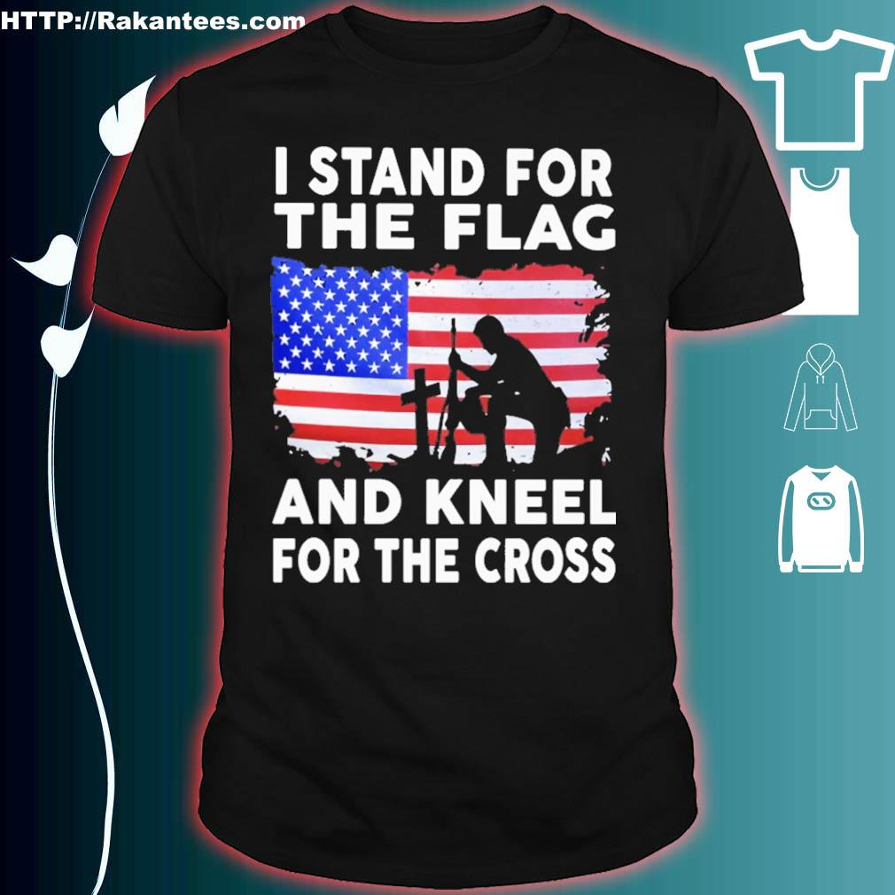 Stand for The Flag and Kneel for The Cross Cotton Infant Girls Tee Short Sleeve