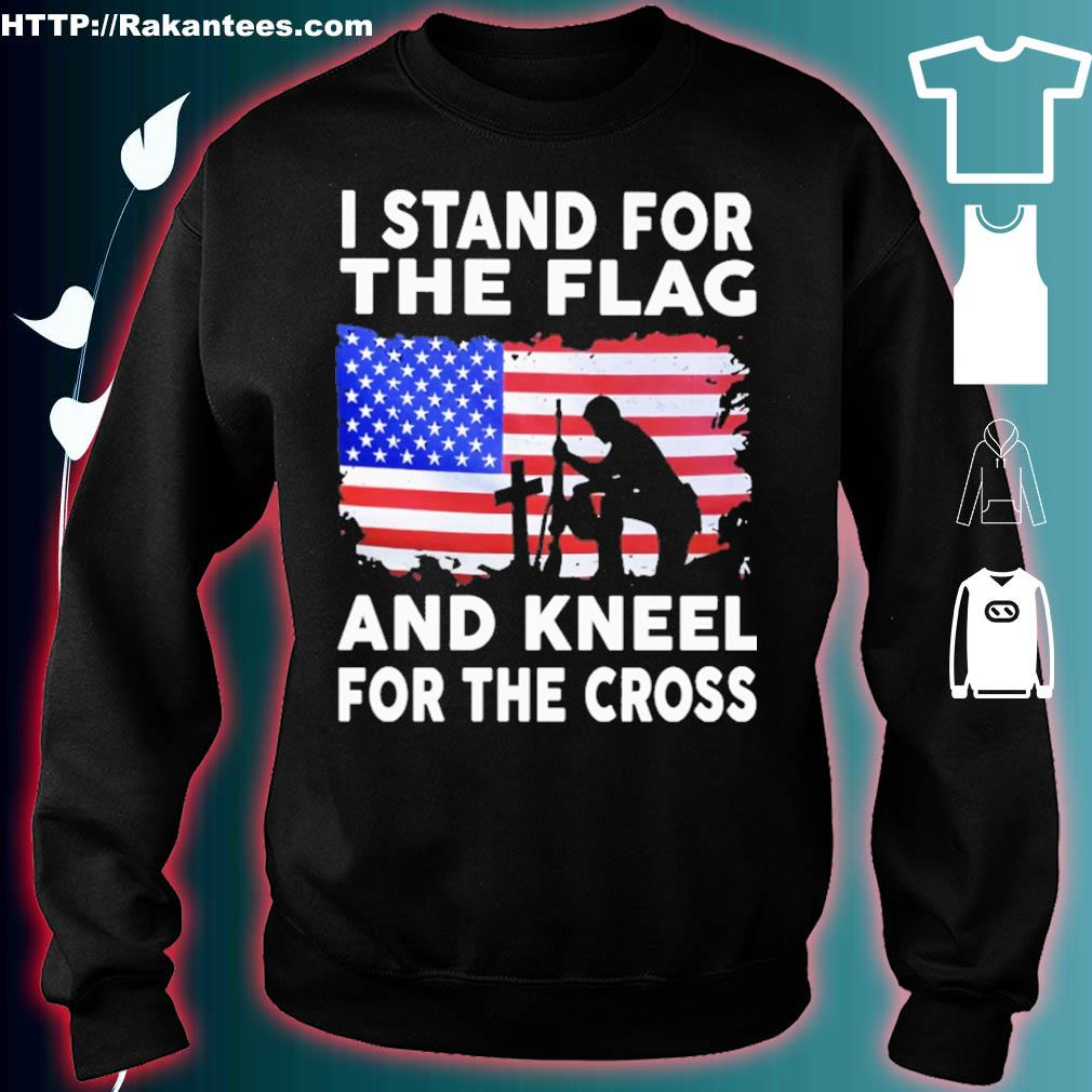 Stand for The Flag and Kneel for The Cross Toddler Girls T-Shirts Short Sleeve