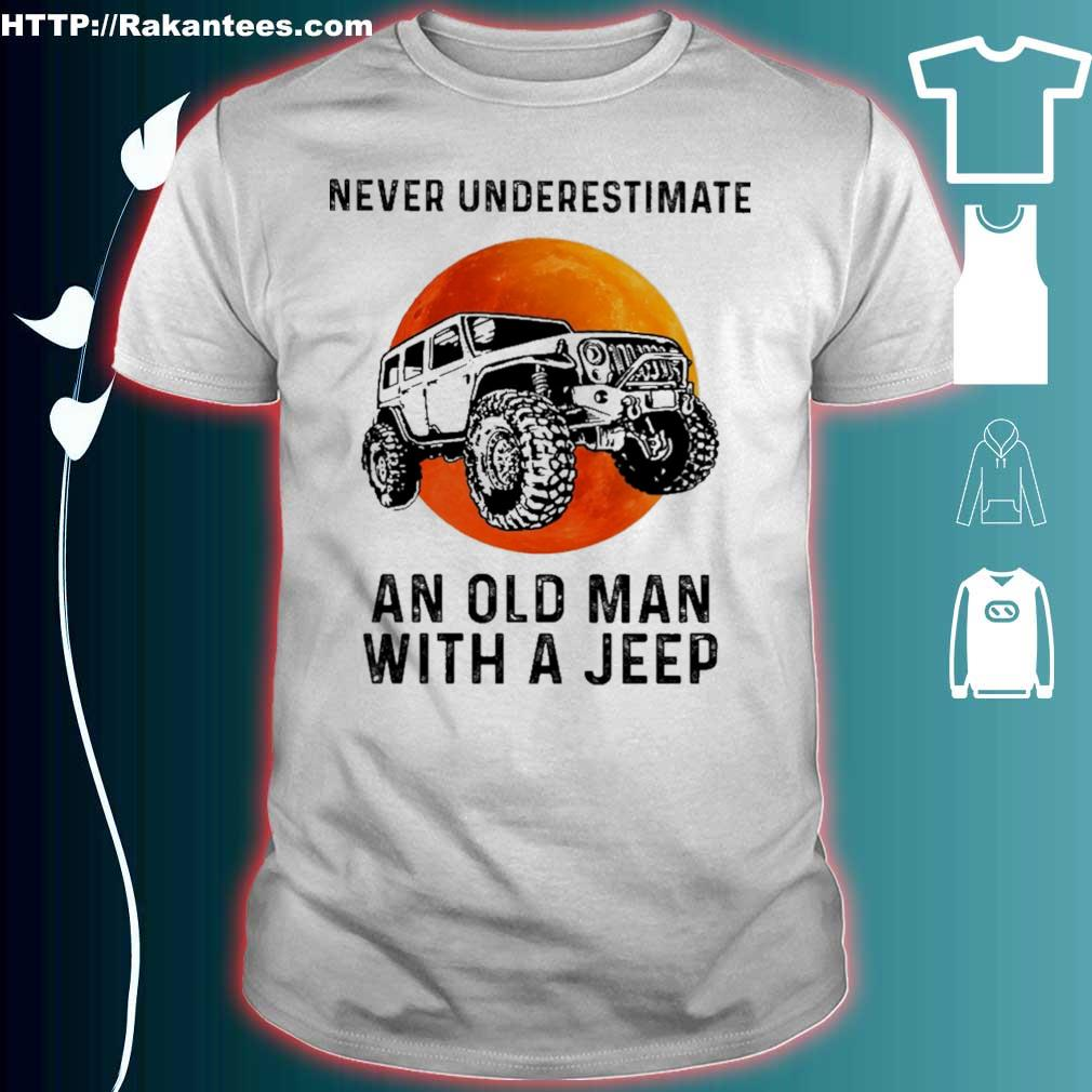 Jeep Never Underestimate An Old Man  Mens Sweatshirts