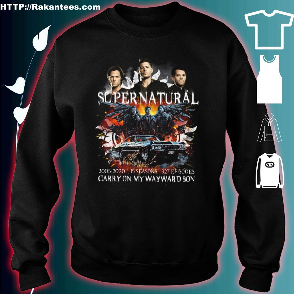 Supernatural 2005 2020 15 seasons 327 episodes carry on my wayward son s sweater