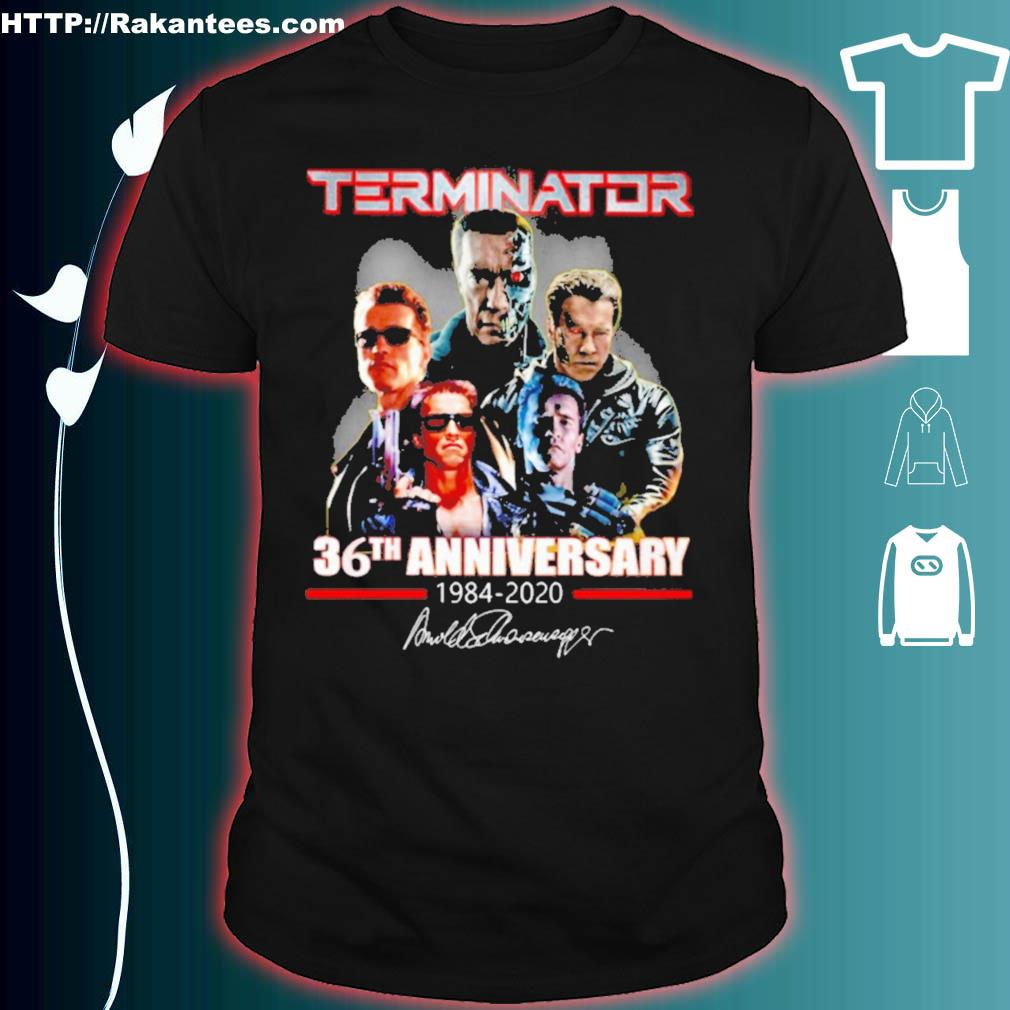 Terminator 36th Anniversary 1984 2020 signature shirt