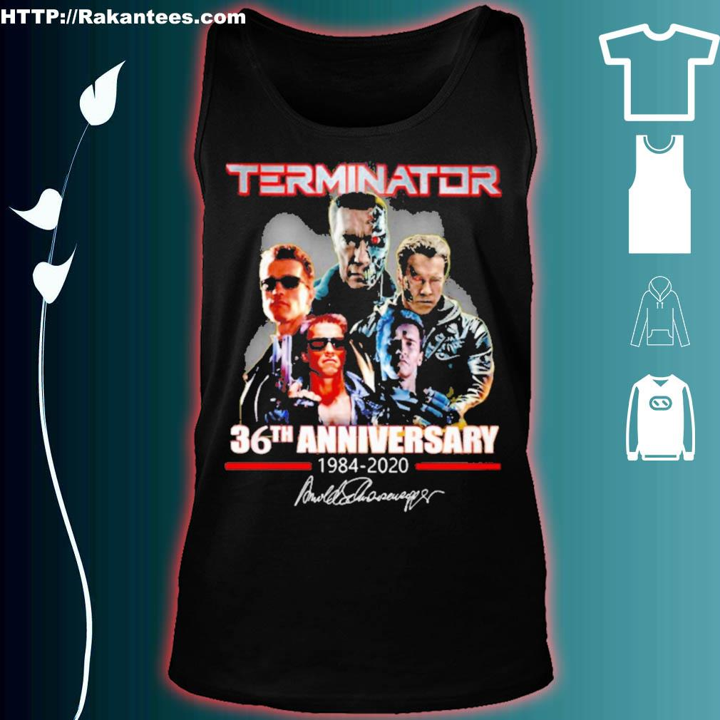 Terminator 36th Anniversary 1984 2020 signature s tank top
