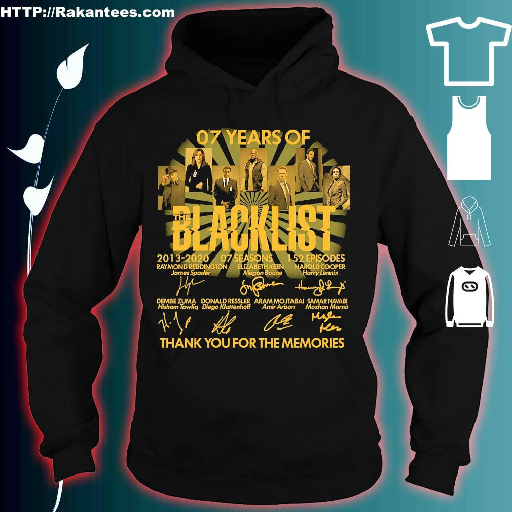 07 Years of the Blacklist 2013 2020 07 seasons 152 episodes thank You for the memories signatures s hoodie