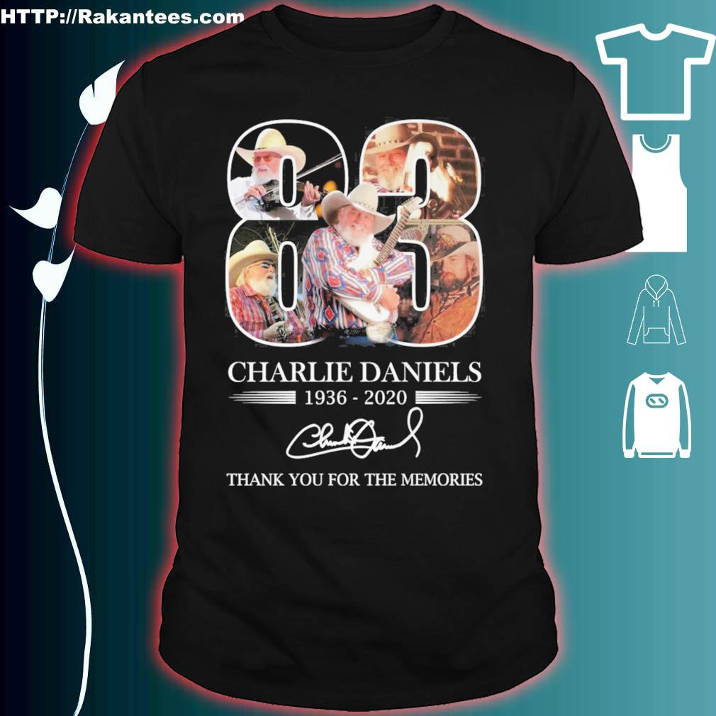 83 Years Charlie daniels 1936 2020 thank you for the memories signature shirt