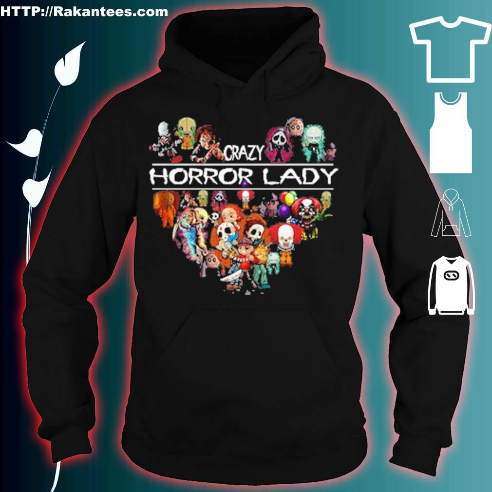 The Horror movie crazy Horror lady hear Halloween t s hoodie
