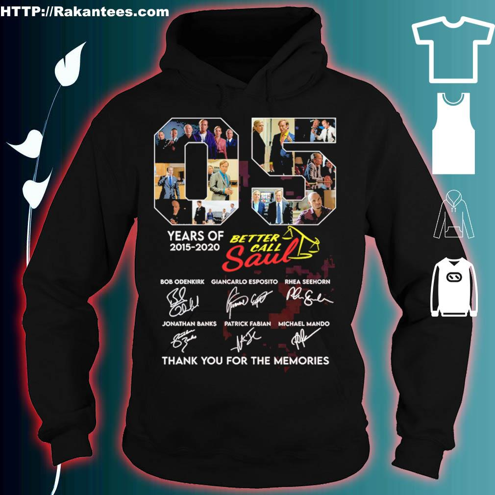 05 years of 2015 2020 Better call Saul signatures s hoodie
