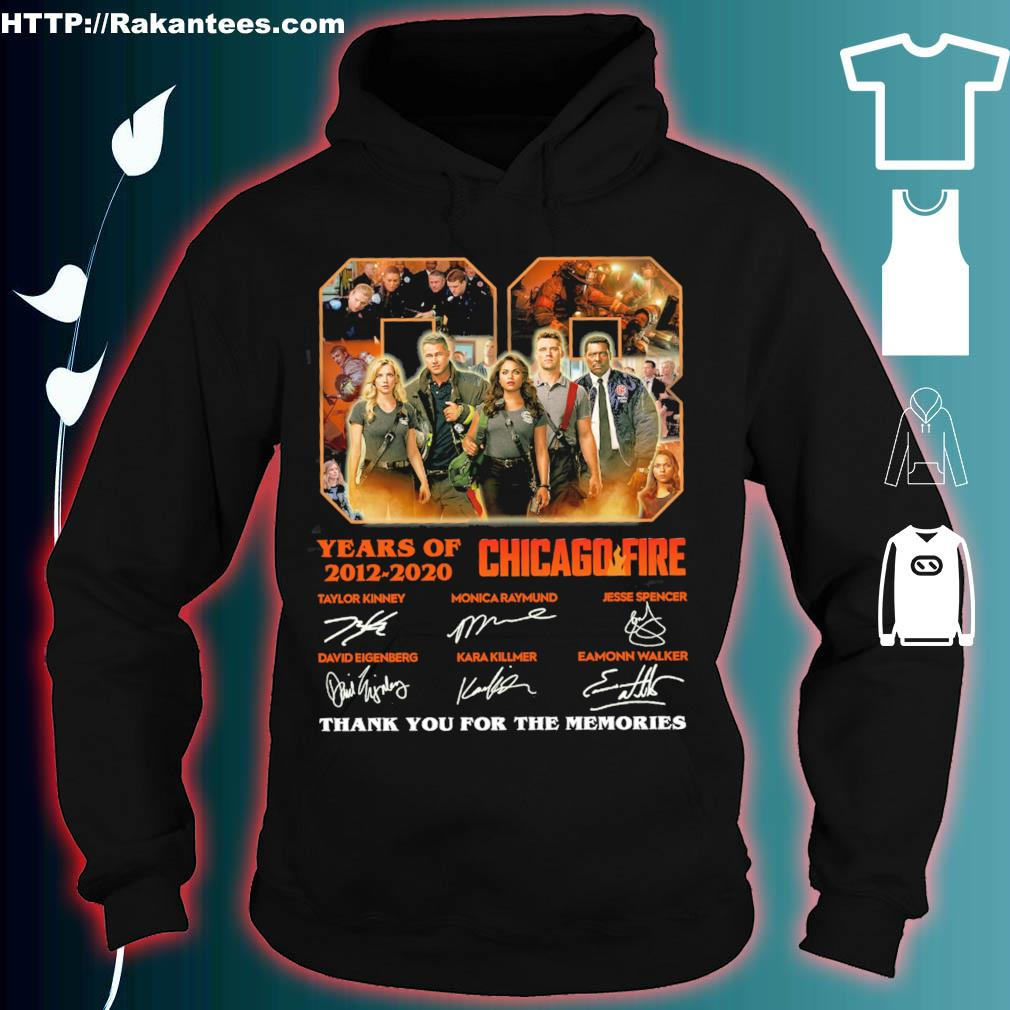 08 years of 2012 2020 Chicago Fire signatures s hoodie
