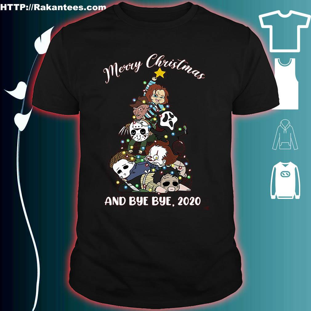 2020 Horror Christmas Horror Merry Christmas and bye bye 2020 shirt, hoodie, sweater