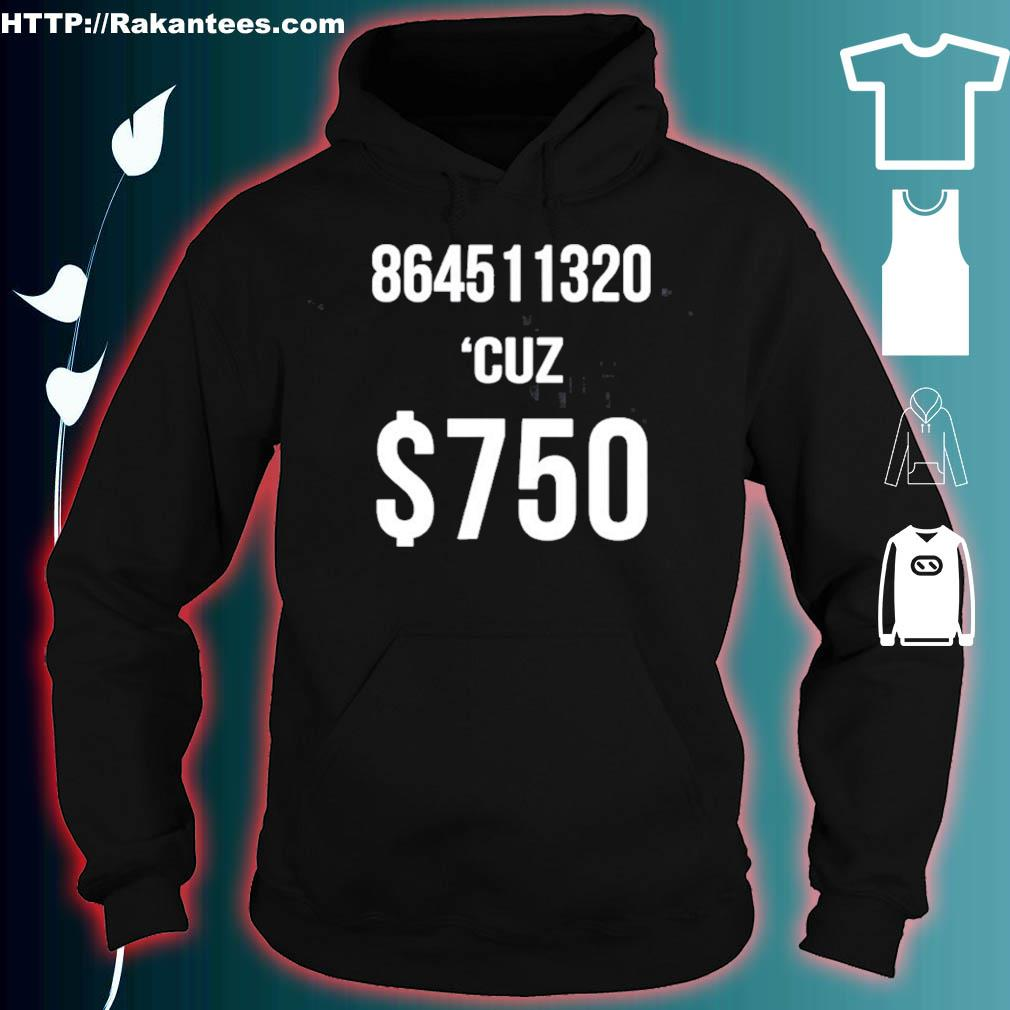 $750 Trump Taxes New York 750 More Reasons To Vote Democrat Shirt hoodie