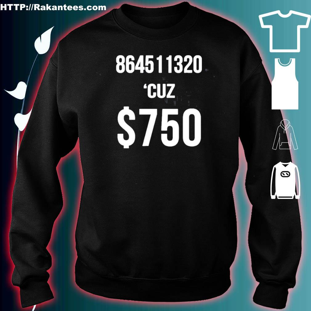 $750 Trump Taxes New York 750 More Reasons To Vote Democrat Shirt sweater