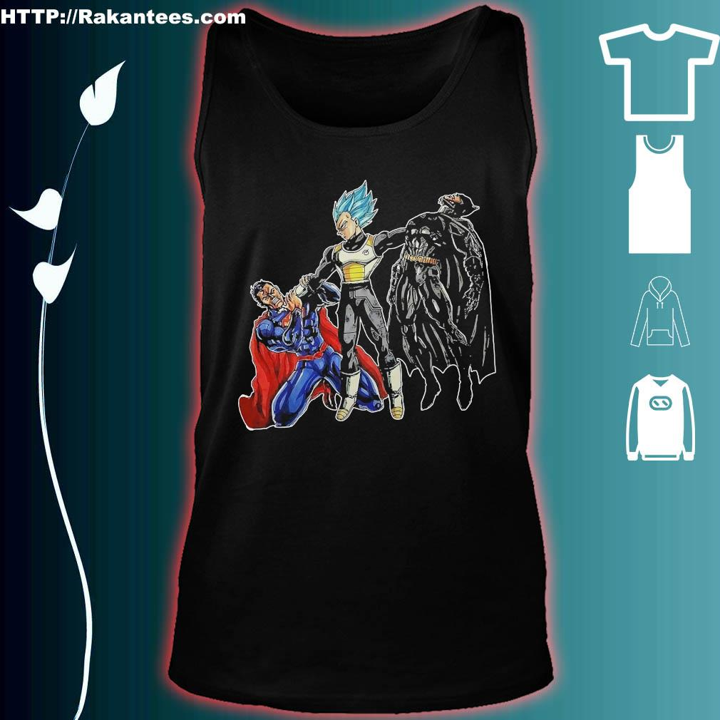 Goku Vegeta vs Superman Batman s tank top