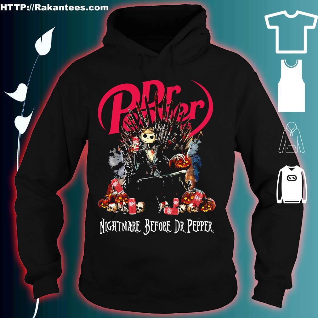 Jack Skellington Nightmare Before Dr Pepper Shirt hoodie