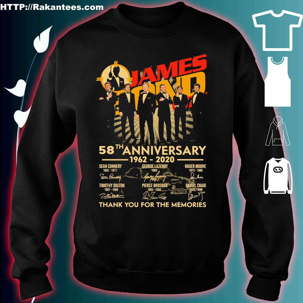 James Bond 007 58th anniversary 1962 2020 thank You for the memories signatures s sweater