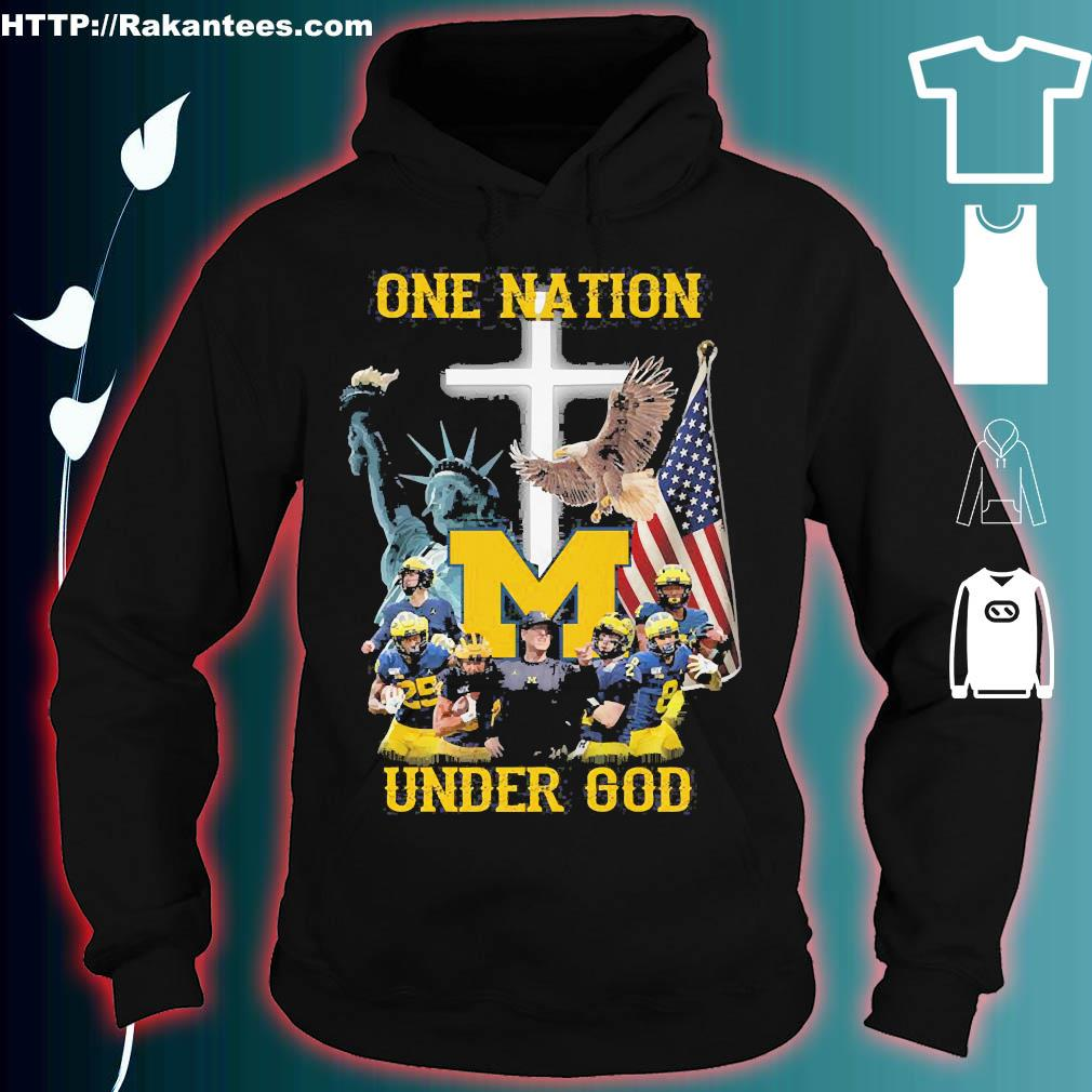 Statue of Liberty American Michigan Wolverines one nation under God s hoodie