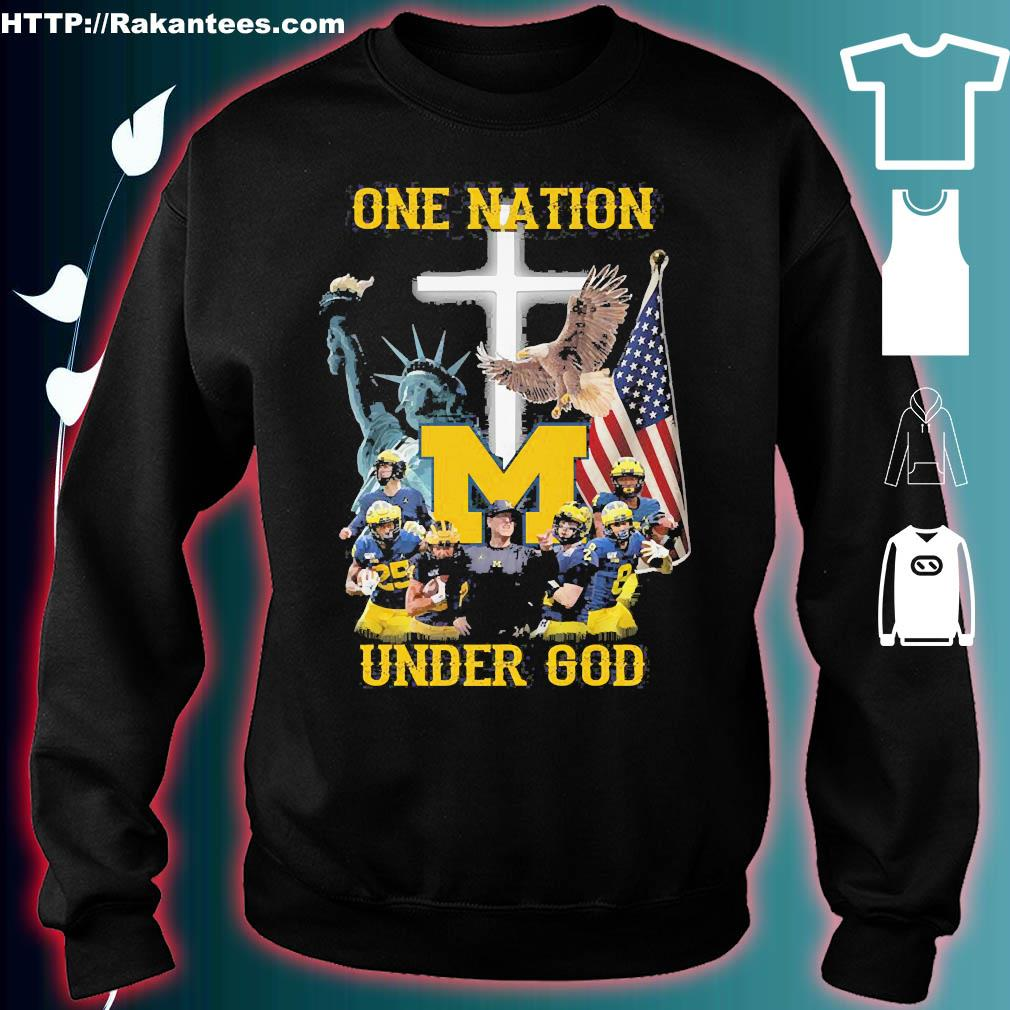 Statue of Liberty American Michigan Wolverines one nation under God s sweater