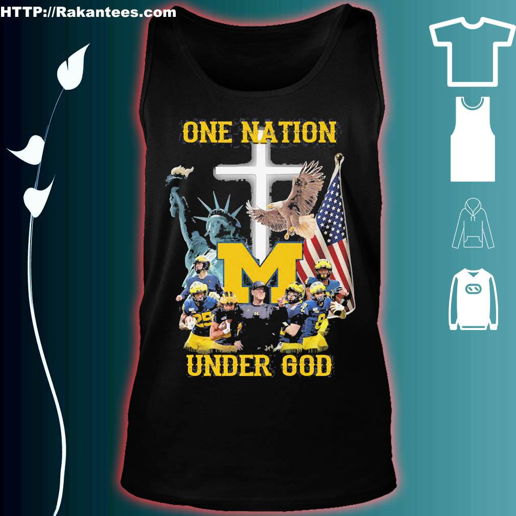 Statue of Liberty American Michigan Wolverines one nation under God s tank top