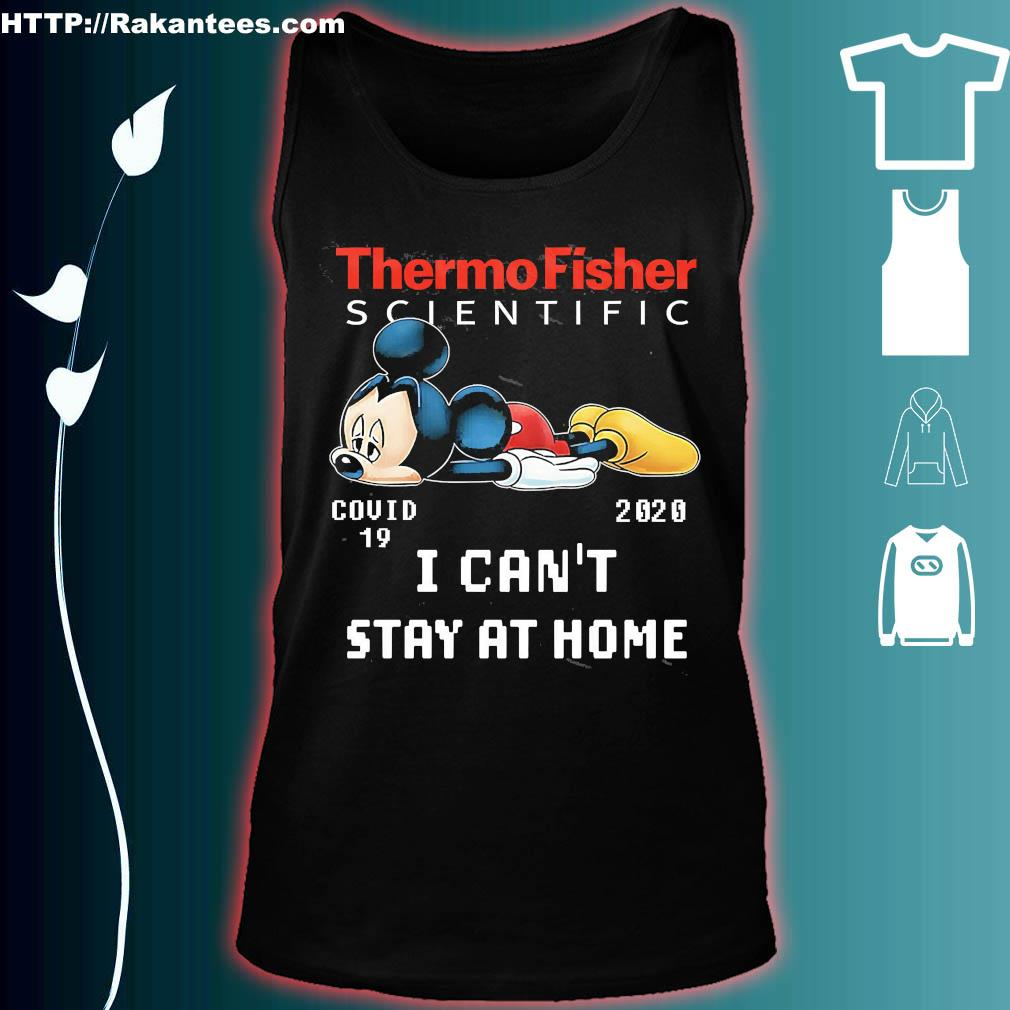 Thermo fisher scientific Mickey Mouse covid 19 2020 I can't stay at home s tank top