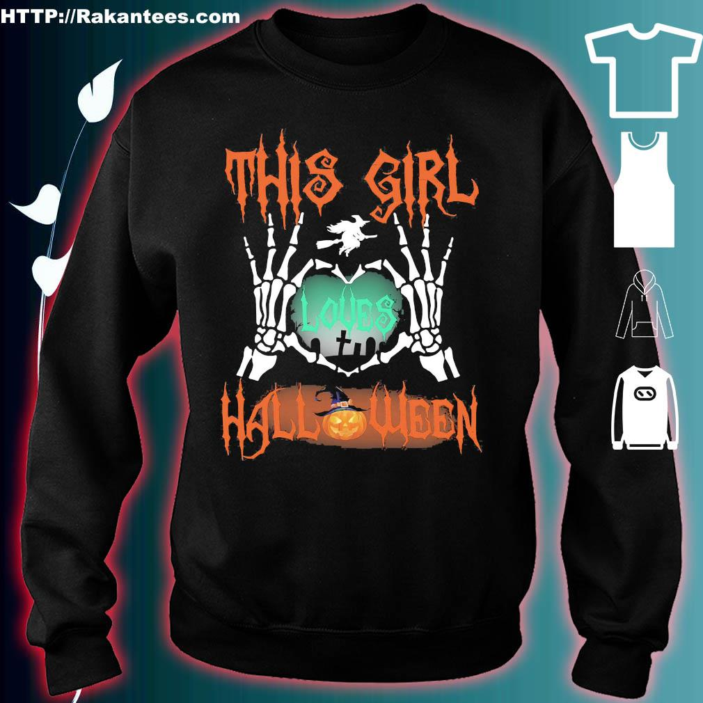 This girl love halloween s sweater