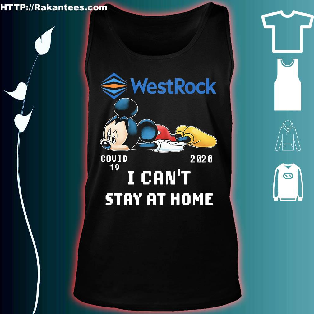 WestRock Mickey Mouse covid 19 2020 I can't stay at home s tank top
