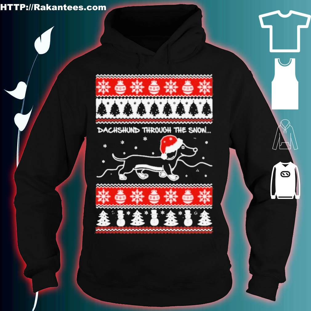 Official Dachshund Through The Snow Ugly Christmas Shirt hoodie