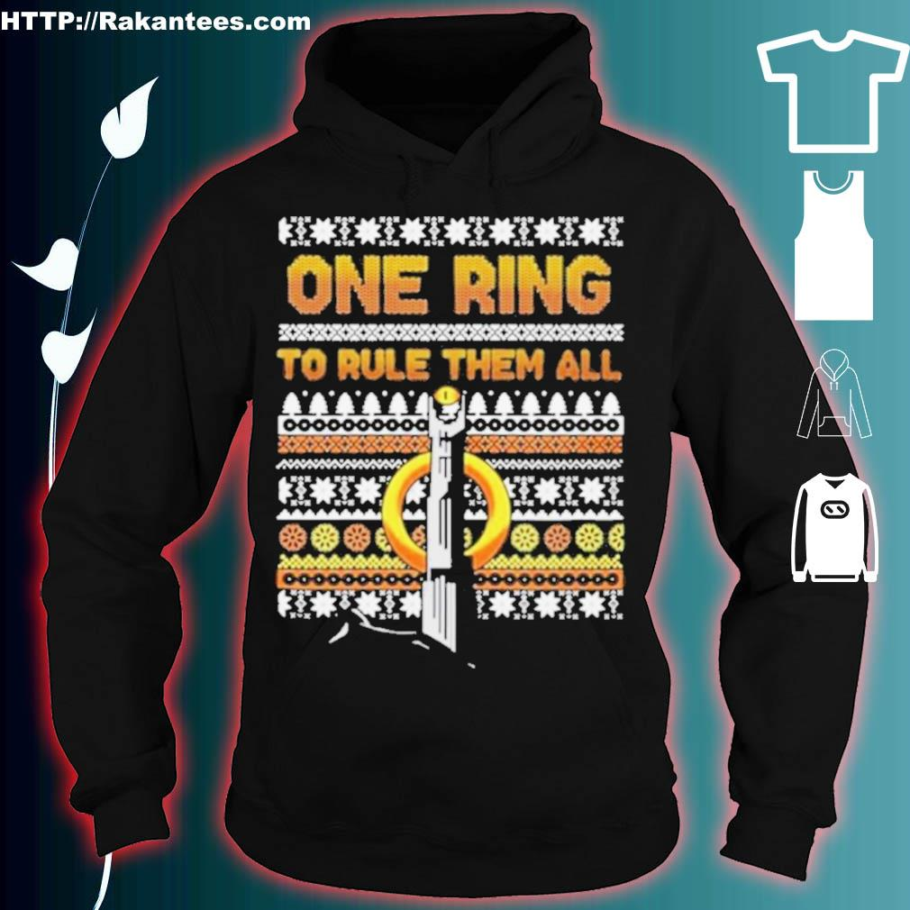 Official One Ring To Rule Them All Ugly Christmas Shirt hoodie
