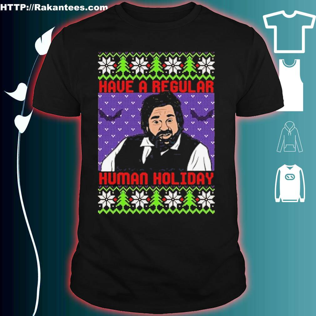 Official Regular Human Holiday Mery Christmas Shirt