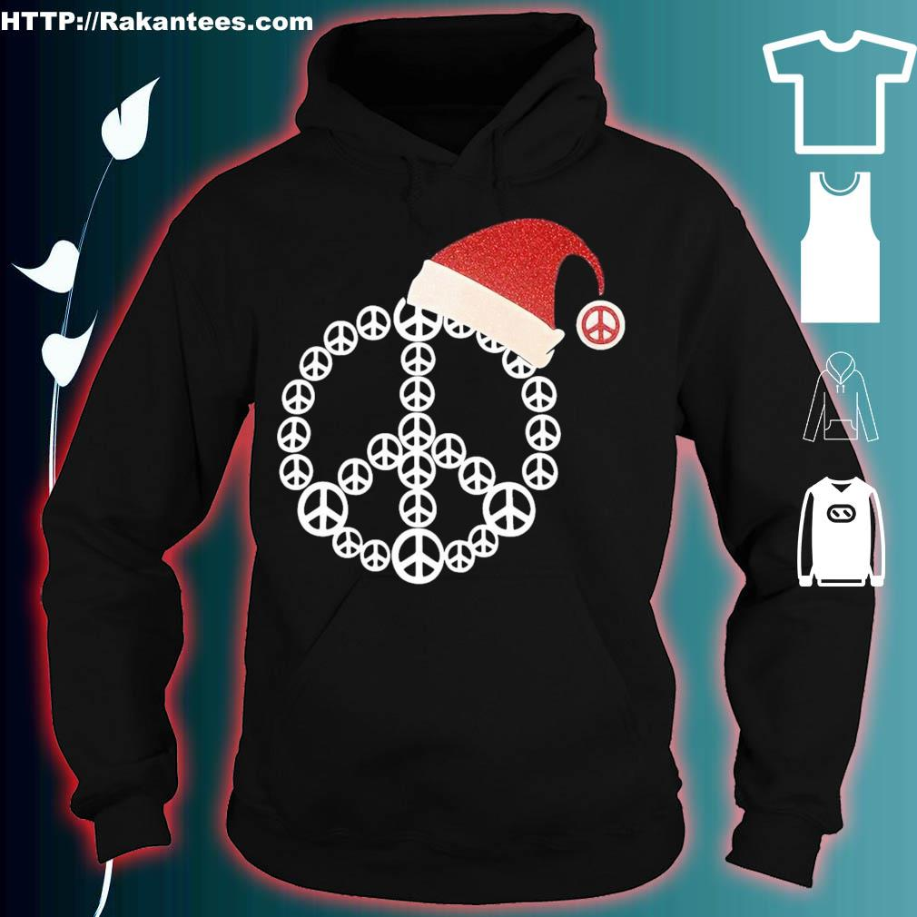 Official Santa Hat Hippie Christmas Shirt hoodie
