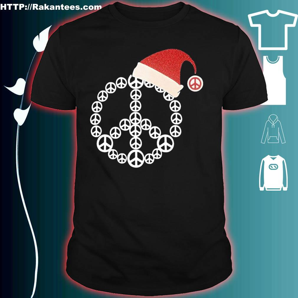 Official Santa Hat Hippie Christmas Shirt