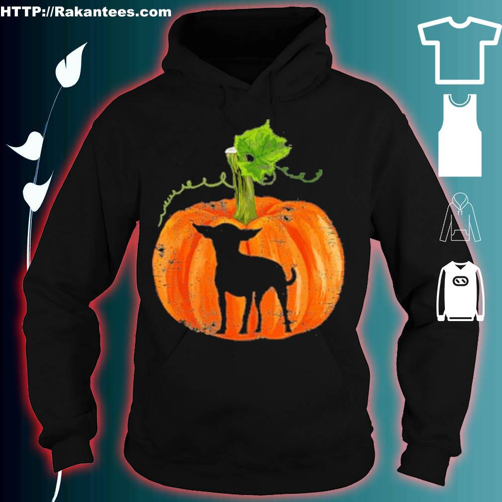 Official Chihuahua In Pumpkin Funny Halloween Dog Lovers Gift Shirt hoodie
