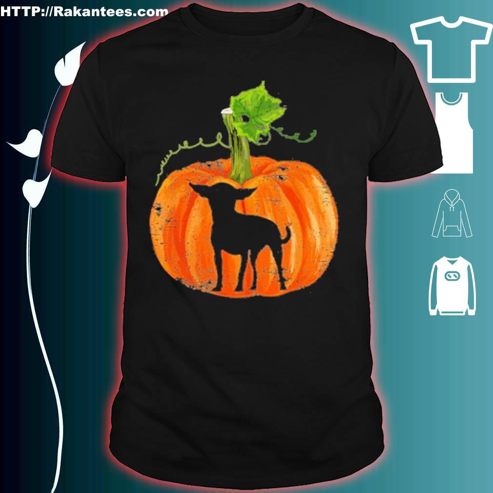 Official Chihuahua In Pumpkin Funny Halloween Dog Lovers Gift Shirt