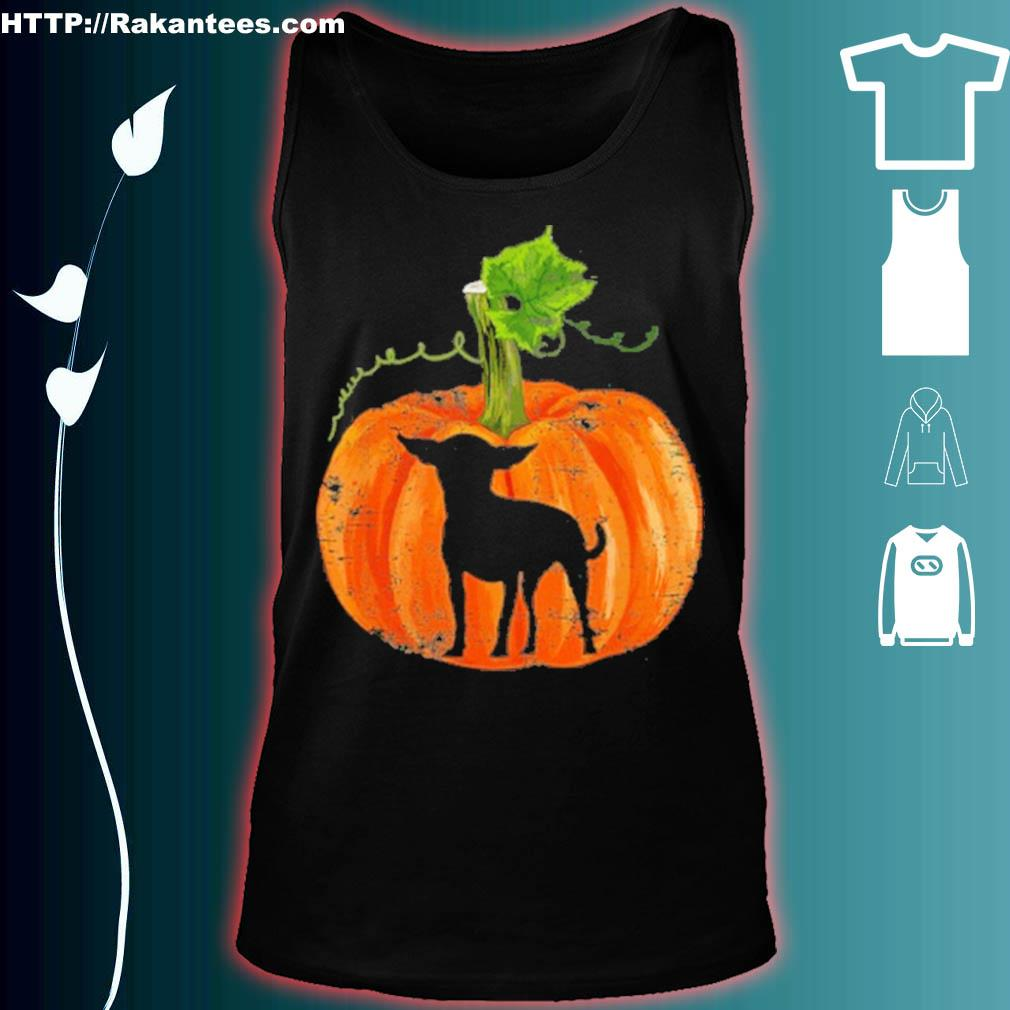 Official Chihuahua In Pumpkin Funny Halloween Dog Lovers Gift Shirt tank top