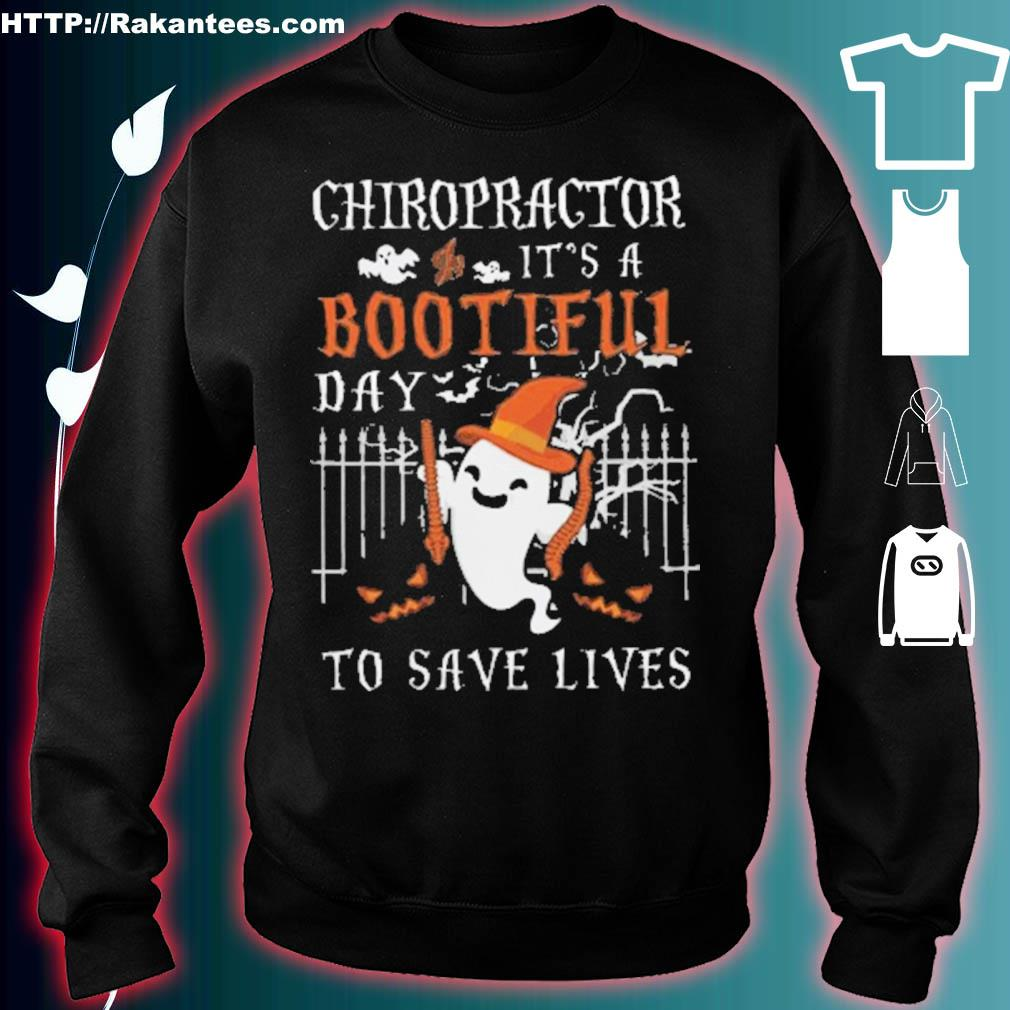 Official Chiropractor It's A Bootiful Halloween Shirt sweater
