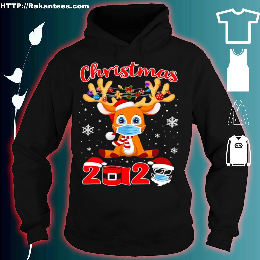 Official Christmas 2020 Reindeer Mask Matching Pajama Idea Shirt hoodie