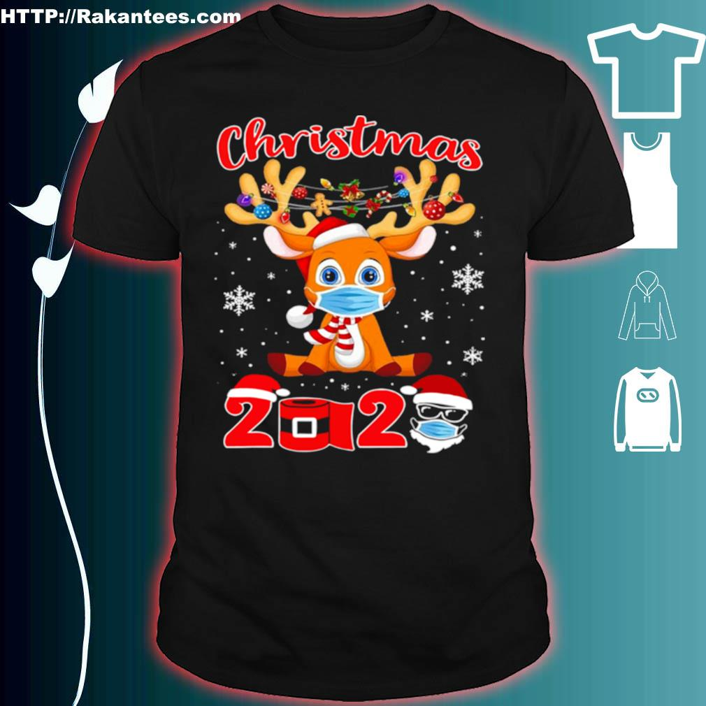 Official Christmas 2020 Reindeer Mask Matching Pajama Idea Shirt