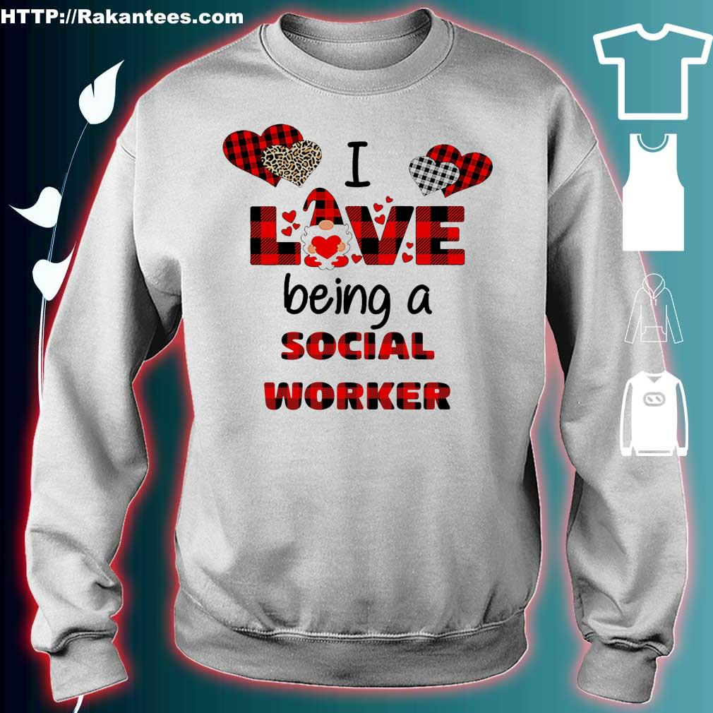 Official I love being a social worker Gnome Valentine Shirt sweater
